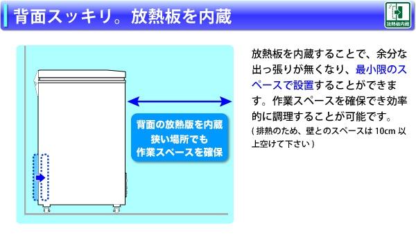 放熱板を内蔵することで、背面がスッキリ