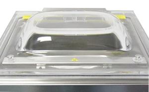 プレキシガラス製のベル型透明カバー