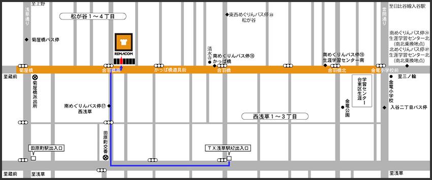 浅草駅からのアクセス