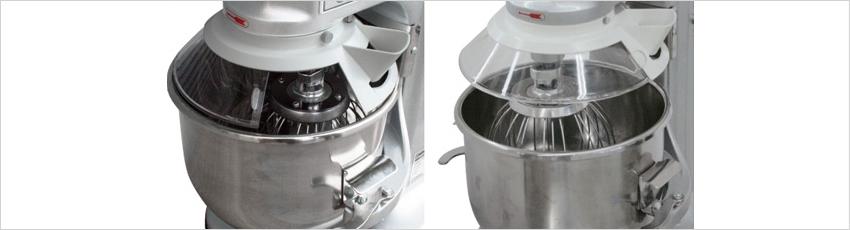 CE(欧州安全規格)に準じたセーフティガードを標準装備