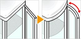 従来品を改良した美しい曲線デザイン