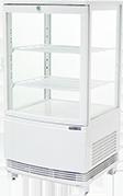 レマコムの4面ガラス冷蔵ショーケースの特長