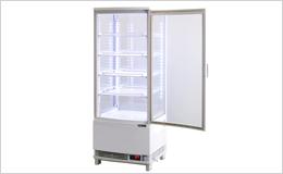 4面ガラス冷蔵ショーケース、LED仕様 98リットルタイプ