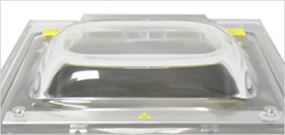 アクリル樹脂製のドーム型透明カバー