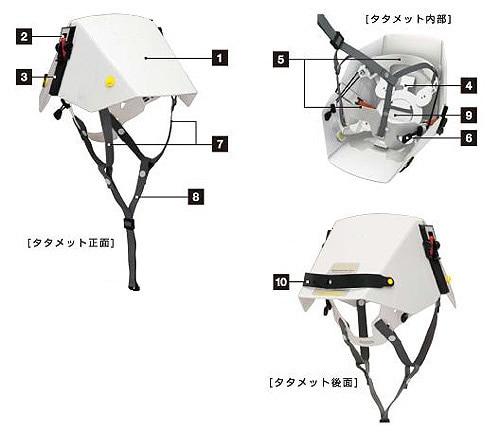 たためるヘルメット タタメットBCPプレーンタイプ