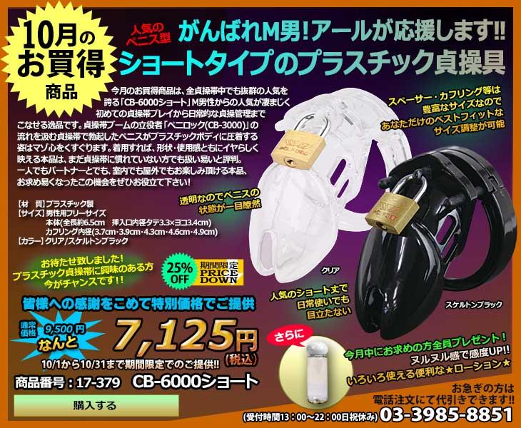 10月のお買得商品・CB-6000ショート