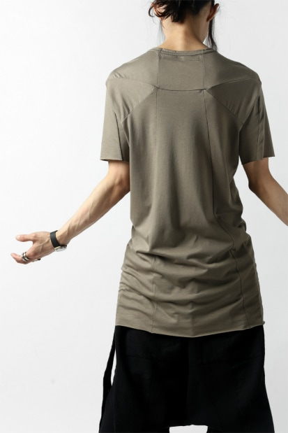 A.F ARTEFACT SWITCHING SHORT SLEEVE TEE / COTTON JERSEY (BEIGE)