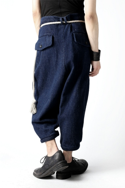 vital exclusive roped tuck pants / low count denim