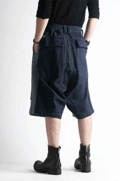 A.F ARTEFACT SWITCHING SHORTS / LOW COUNT DENIM (INDIGO)