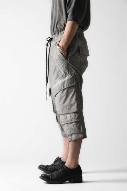 A.F ARTEFACT SWITCHING CROPPED CARGO SAROUEL / DYED COMBI FABRIC