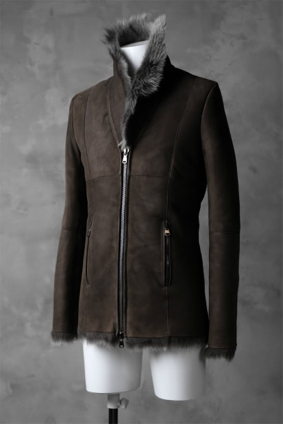 A.F ARTEFACT SHEEP SHEARLING MOUTON JACKET