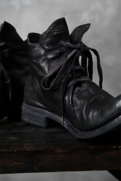 A DICIANNOVEVENTITRE A1923 LACE UP BOOTS 4HOLE / CANGURO BLACK