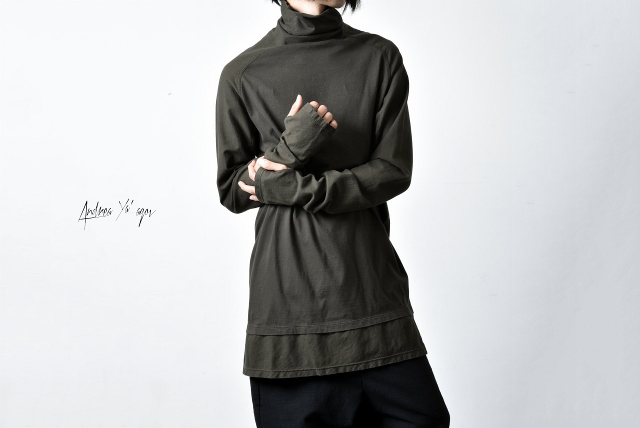 ANDREA YA'AQOV HIGHNECK LONG SLEEVE FINGER OUT GLOVE CUTSEWN 着用画像
