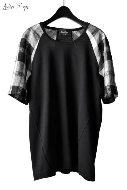 ANDREA YA'AQOV  SHORT SLEEVE TOP / PLAID PATTERN