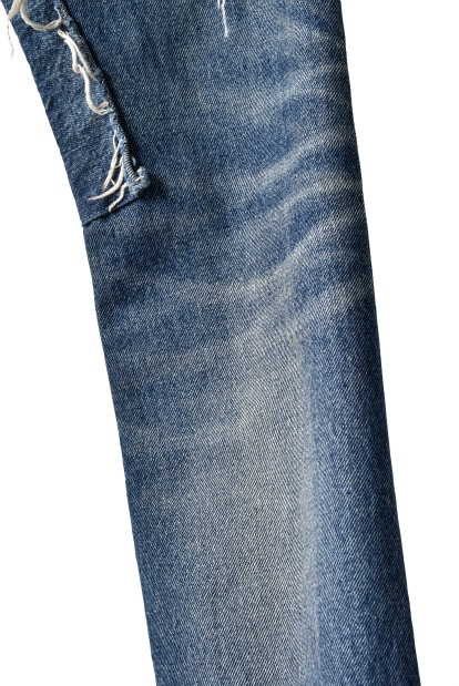 ISAMU KATAYAMA BACKLASH SELVEDGE DENIM TIGHT STRAIGHT PANTS [BORO]