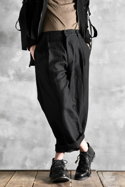 ISAMU KATAYAMA BACKLASH  exclusive Beverly JAPAN RAMIE STRIPE WIDE PANTS