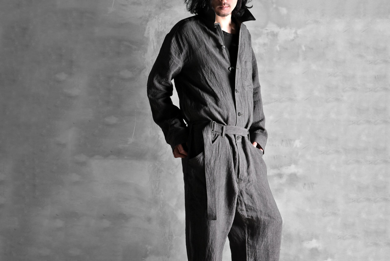 ISAMU KATAYAMA BACKLASH ROUGH LINEN JUMP-SUITS