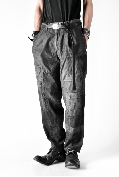 ISAMU KATAYAMA BACKLASH BORO TAPERED PANTS