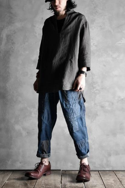 ISAMU KATAYAMA BACKLASH BORO TAPERED PANTS
