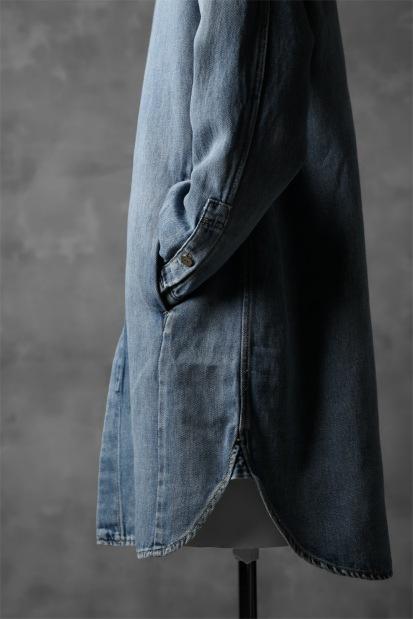 ISAMU KATAYAMA BACKLASH COVER ALL SHIRT / COTTON LINEN DENIM