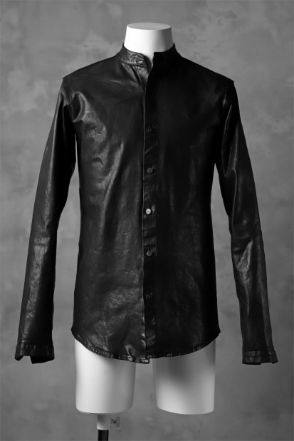 ISAMU KATAYAMA BACKLASH exclusive LEATHER SHIRT / ITALY SHOULDER