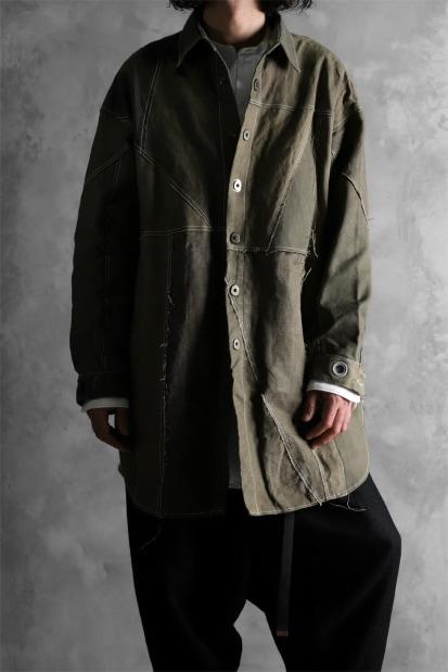 ISAMU KATAYAMA BACKLASH x LOOM OSAKA exclusive RECONSTRUCTION VINTAGE CANVAS BIG FIT SHIRT COAT