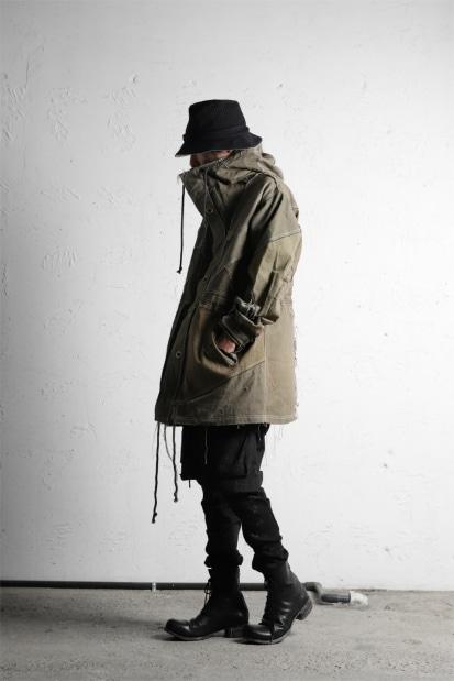 BACKLASH x LOOM exclusive RECONSTRUCTIVE HOODIE COAT / VINTAGE MILITARY CANVAS