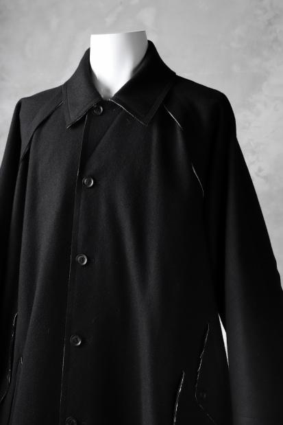 B Yohji Yamamoto ROUGHCUT RAGLAN COAT / SOFT MELTON