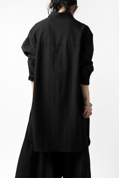 B Yohji Yamamoto LONG SHIRT ROUND HEM / C/CU GABARDINE