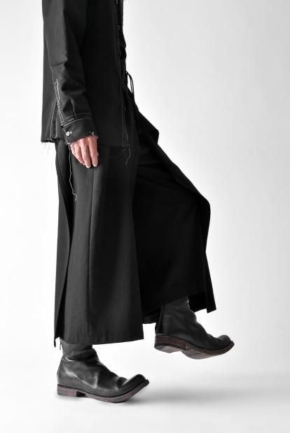 B Yohji Yamamoto B/REMOVAL FRONT SKIRT PANTS / WOOL GABARDINE