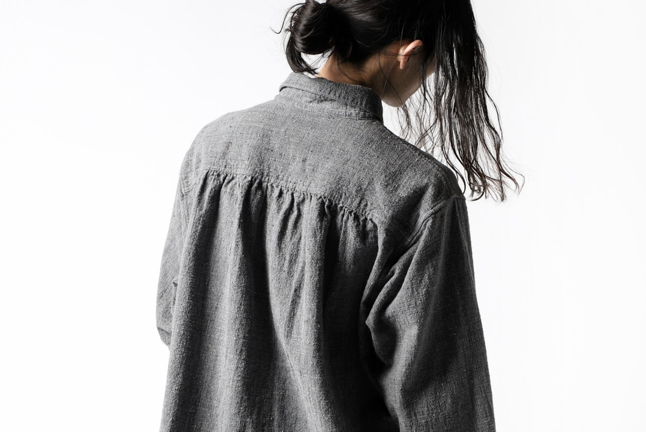 COLINA FRENCH WORK SHIRT JACKET / HAND SPUN COTTON TWEDED