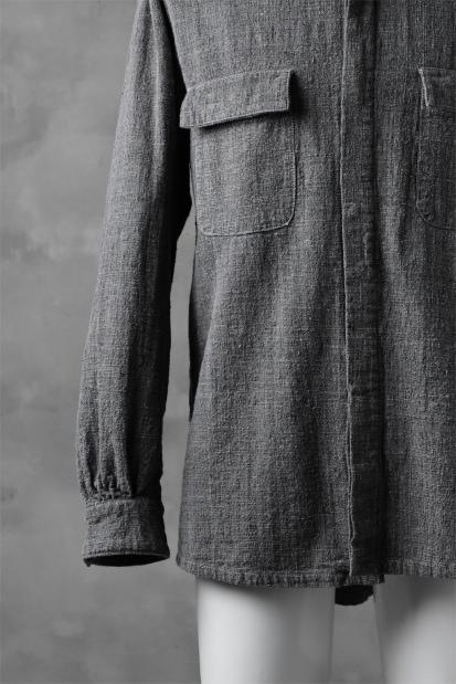 COLINA FRENCH WORK SHIRT JACKET / HAND SPUN COTTON TWEED