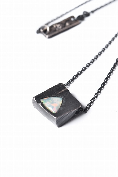 GASPARD HEX Faceted Opal Pendant Triangle Shape