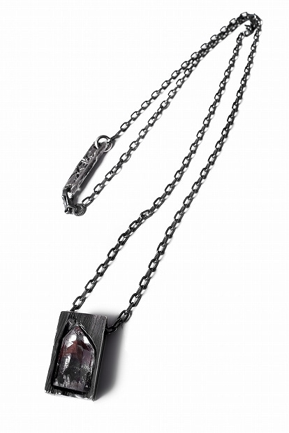 GASPARD HEX Quartz Inclusion Pendant Small 52cm chain