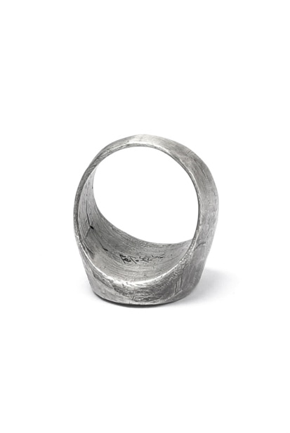 Moggak-Inhyeong by Holzpuppe Poem Silver Ring (MR-610)
