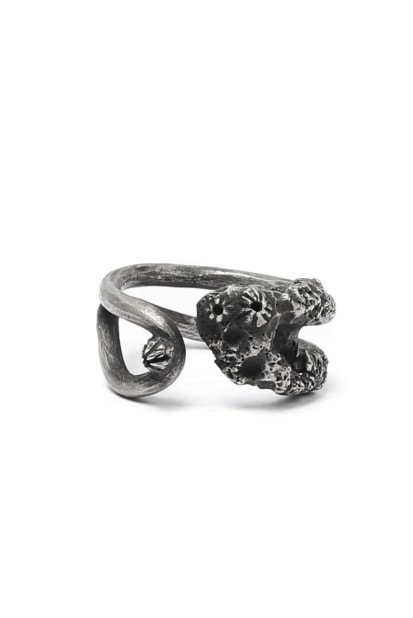 Holzpuppe Barnacle Rusted Clothing Silver Pin Ring (PR-202)