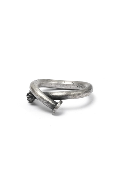 Holzpuppe Barnacle Rusted Nail Silver Ring (PR-213)
