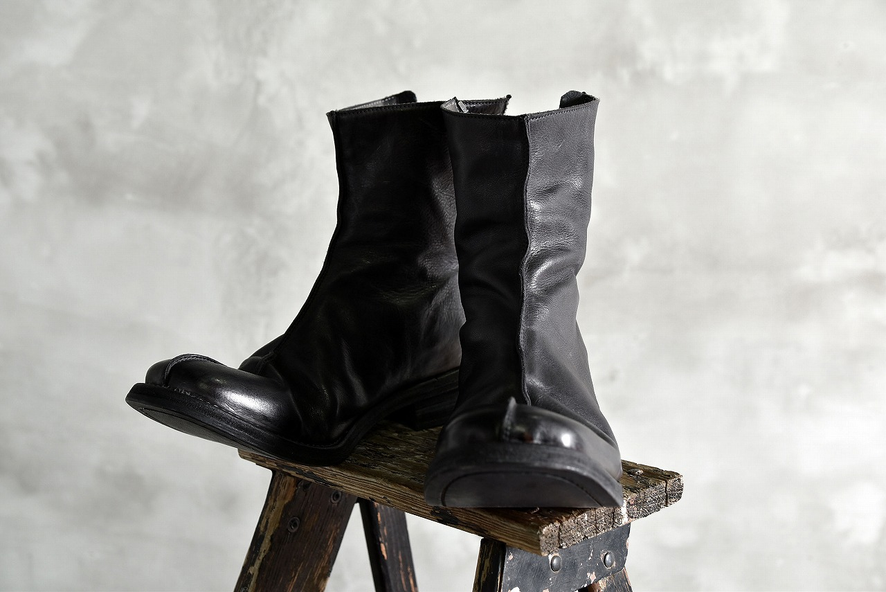 incarnation  Calf Leather Back Zip Center Seam Lined Boots