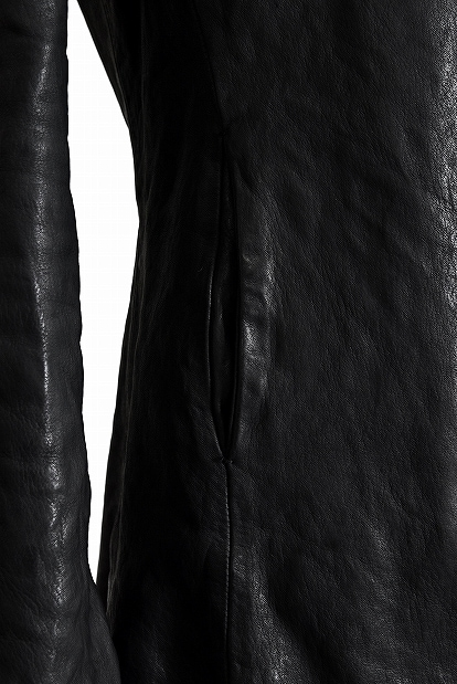 incarnation  CALF SKIN LEATHER 1 SNAP BUTTON JACKET