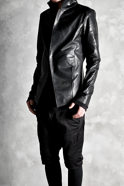 incarnation  exclusive OILED HORSE LEATHER OVER LOCKED 1 Hook Jacket