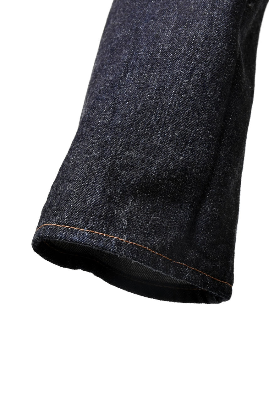 incarnation exclusive DENIM PANTS LONG DARTS DROP CROTCH TROUSERS OVERLOCKED