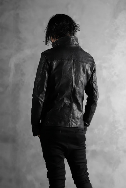 incarnation exclusive MILITARY ZIP JACKET (OBJECT DYE/TANNED HORSE)