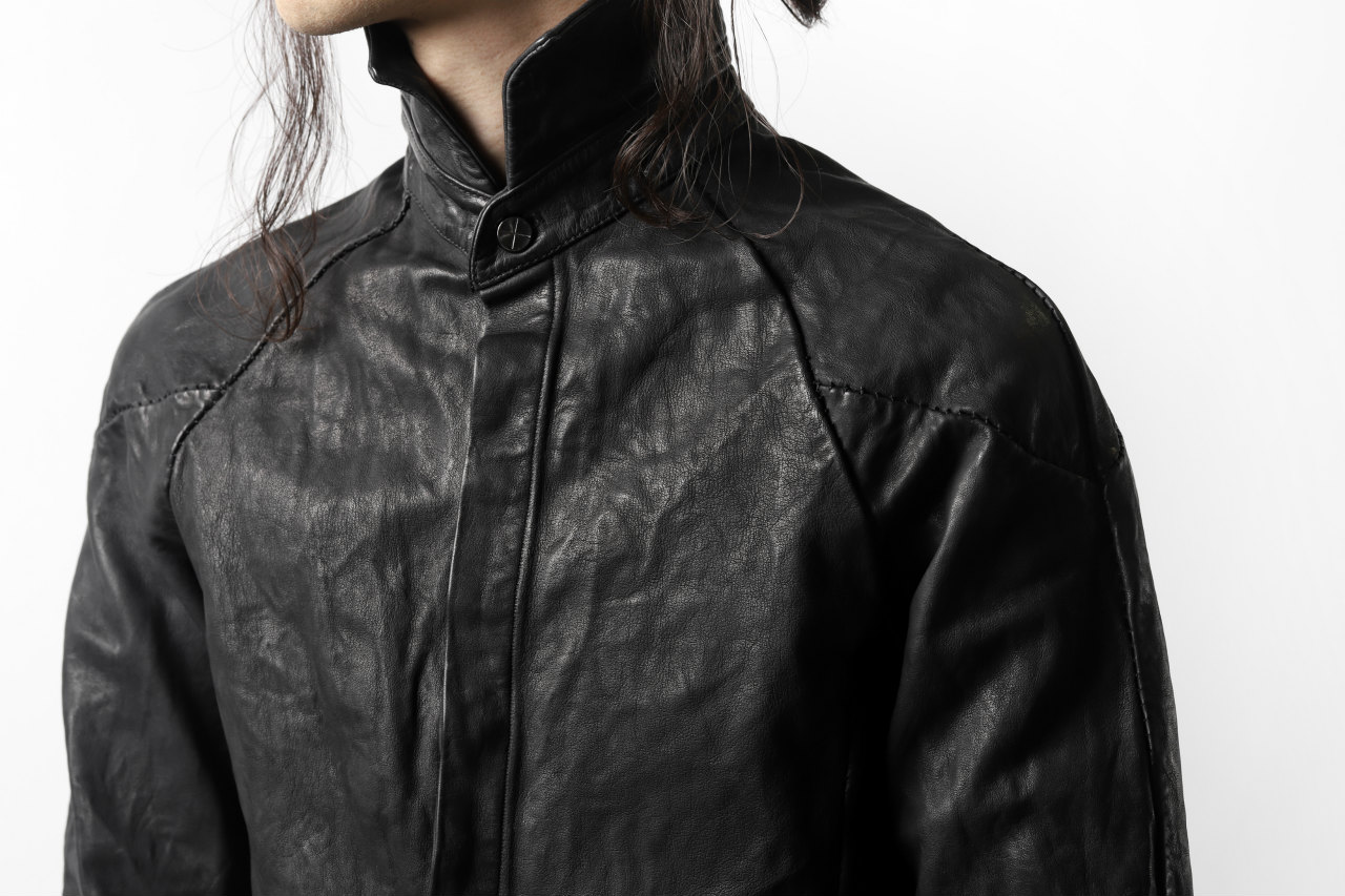 incarnation exclusive KANGAROO LEATHER FRY FRONT BTN SHIRT / OVER LOCKED