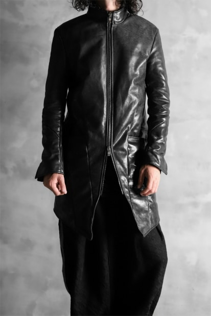 incarnation exclusive HORSE LEATHER GOOSE DOWN COAT wt SHEARING SCARF / GROSSY FINISH