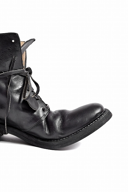 incarnation  Calf Leather 6 Holes Ancle Lined Leather Sole Boots