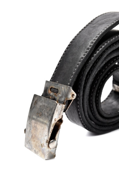 incarnation HORSE LEATHER NARROW BELT with G.I BUCKLES
