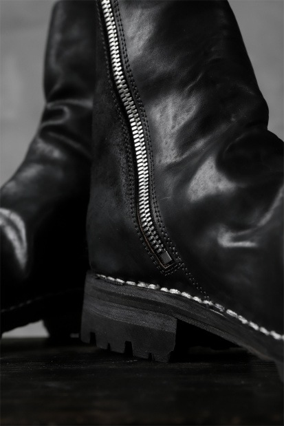 incarnation exclusive HORSE BUTT LEATHER HAND STITCH SIDE ZIP BOOTS / VB100