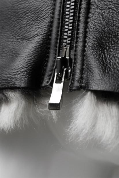 incarnation exclusive SHEEP SHEARLING MOUTON BLOUSON / HIGH NECK ZIP & SPIRAL ARM
