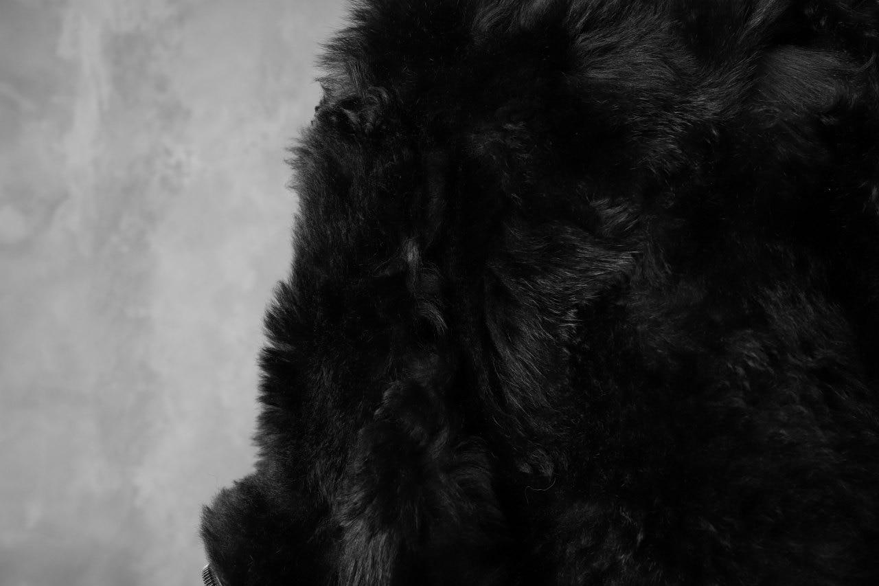 incarnation exclusive SHEEP SHEARLING MOUTON HOODED BLOUSON