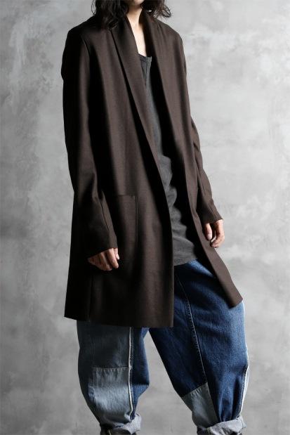 ATTACHMENT Shawl Collar Jacket [Smooth Wool Frannel]